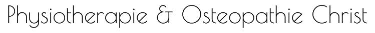 Physiotherapie & Osteopathie Christ Logo